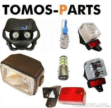 Koplamp , achterlicht ,Led, Xenon, Angel eyes voor Tomos .