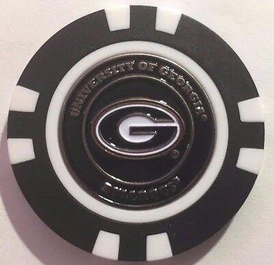 NCAA Georgia Bulldogs Magnetic Poker Chip removable Golf Ball Marker