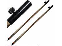 2 X Large 50-90cm Ali Bank Sticks Camo Aliminium Banksticks NGT Carp Fishing