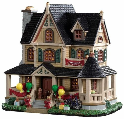 Lemax Birthday Party At The Stanwicks #95516  Lighted Building BNIB