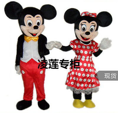 Mickey Minnie Mouse Mascot Costume Adult Fancy Dress Halloween Size - Halloween Costumes Mickey Minnie Mouse