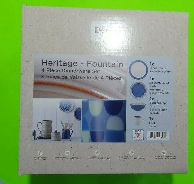 Denby Dinnerware Heritage Fountain Collection 4-Pc. Place Se