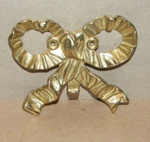Nice Small Brass Metal Decorative Wall Hanging Bow Single Wall Hook