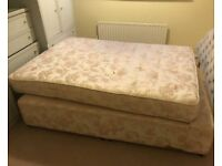 Double divan bed. Can deliver