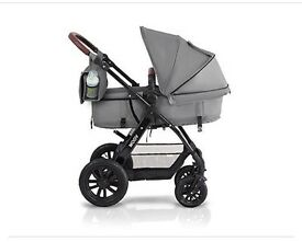 As new condition grey travel system
