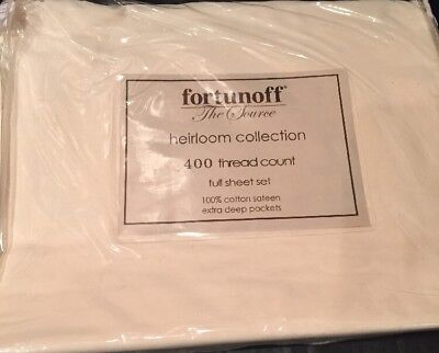 Fortunoff Heirloom Collection Full Sheet Set 400 Thread Count (Heirloom Sheets)