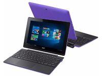 "ex Demo - Acer Win 10 Tablet Detachable 2-in-1 laptop Purple, 10.1"", 2GB DDR3 RAM, 32GB"