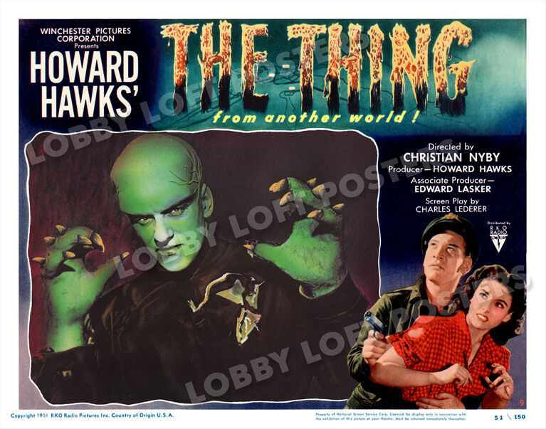 THE THING from another world LOBBY SCENE CARD # 9 POSTER 1951 JAMES ARNESS