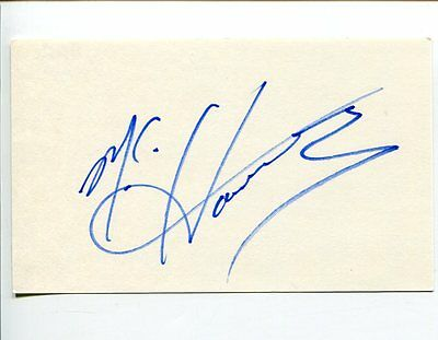 MC Hammer Singer Rapper U Can't Touch This 2 Legit 2 Quit Signed Autograph