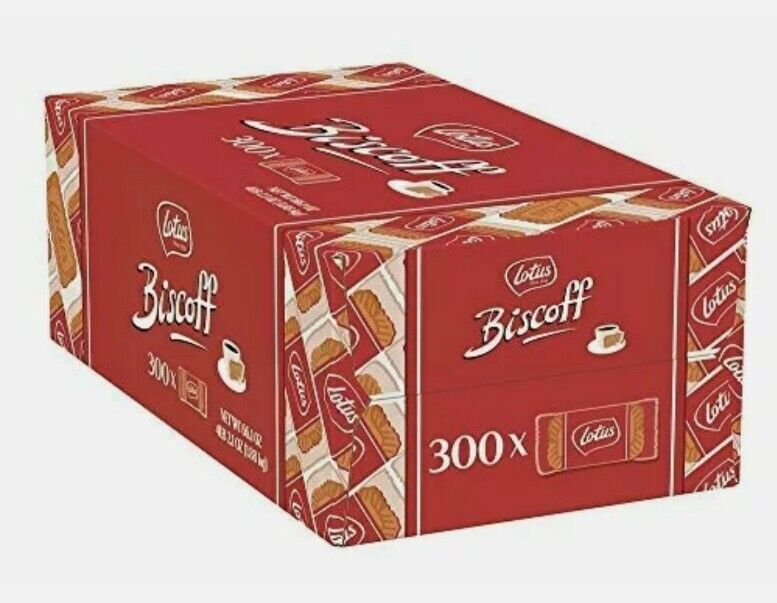 Lotus Biscoff - European Biscuit Cookies - 0.2 Ounce 300 Count - Individually -