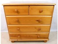 Pine chest of draws and 2 bed side tables