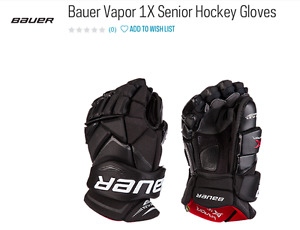 Bauer Vapor 1X Senior Hockey Gloves 13 inch $200 or best offer