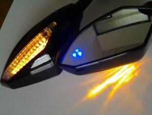Blue LED Mirrors for SUZUKI GSXR 600 750 1000 Hayabusa GSF Katana TL1000R