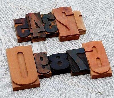 0-9 Mixed Numbers Letterpress Wood Printing Blocks Wood Type Number Stamp Prints