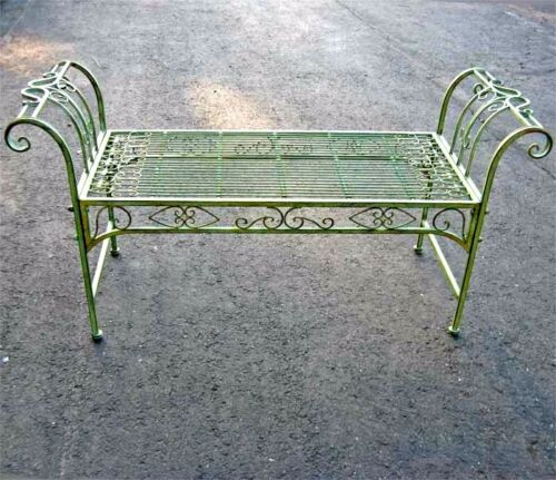 Tremendous Details About Garden Bench Plant Stand Wrought Iron Antique Mint Green Finish Ibusinesslaw Wood Chair Design Ideas Ibusinesslaworg