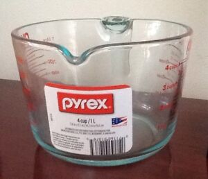 NEW PYREX 4 CUP BOWL WITH HANDLE or WHISK$5,   VASE, THERMOS