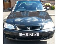 HONDA CIVIC 2001 BLACK 1.4 HATCHBACK £550