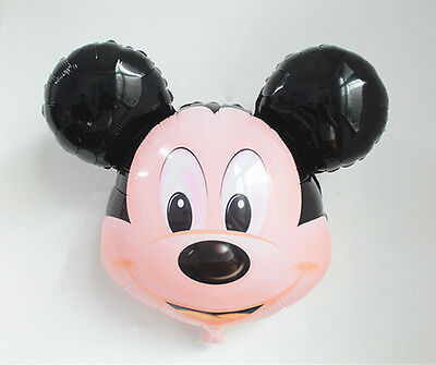 32''  Inch Mickey Mouse Head Foil Balloons Toy Kid Toy Birthday Party Decoration