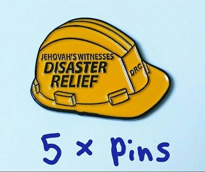 Jw.org Pin For Jehovah's witnesses JW gift Disaster Relief Hard Hat 5 pins lot
