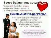 Singles speed dating night