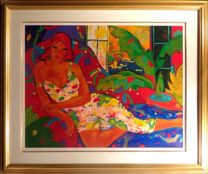 Manel Anoro Dona Art Signed Artwork Limited Edition Custom Framed Make Offer!