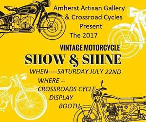 Vintage Motorcycle Show JULY 21-23 ~AMHERST NS~