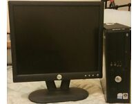 """Dell Optiplex 755 Computer with 17"""" Flat Screen Monitor"""