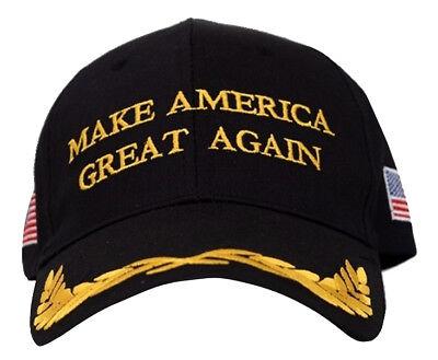 Trump President Make America Great Again MAGA Baseball Cap Hat BLACK Olive