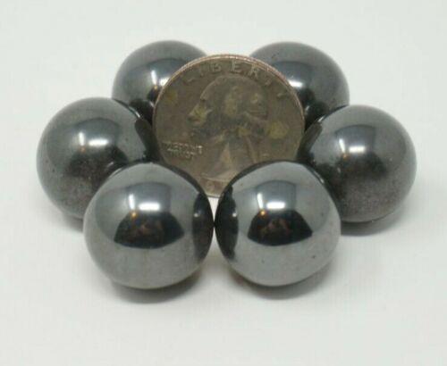 "6 Qty Magnetic singing ZINGER BALLS 3/4"" Diameter Hematite Strong Magnets 18mm"
