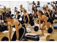 Pump/Weights fitness class Southbourne with Julie House
