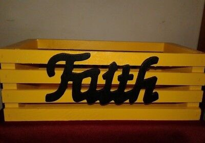 12x6x4 Faith, Family, or Love Holder with four different colors(Mix It Up!)