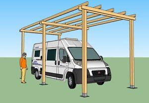 Box camper in legno 8x3 h 3 5 ricovero camper garage for Case con annesso garage per camper