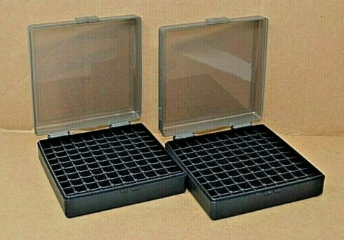 9 mm / 380 - (2) x 100 round ammo case / box (SMOKE / BLACK) Berrys mfg 9 mm NEW