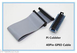 40pin Raspberry pi cobbler 40pin GPIO connection cable wire lead b breadboard