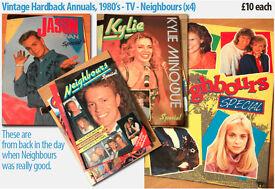 Vintage Hardback Annuals, 1980's - TV - Neighbours (x4)