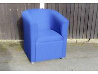 Blue Tub Chair / Armchair
