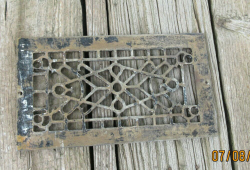 Vtg Heat Air Register Wall Floor Metal Grate ONLY for 4X8 vent (total 5.25X9.25)