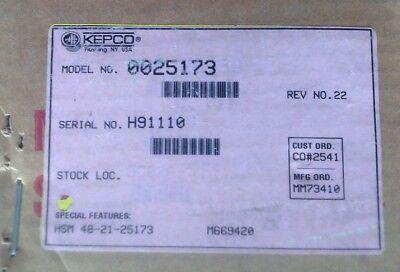 Kepco Inc Power Supply Hsm 48-21-25173