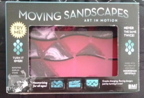 PINK Moving Sandscapes - Art In Motion - Microdium Crystals - Rotating Display!
