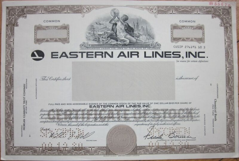 SPECIMEN Stock Certificate: