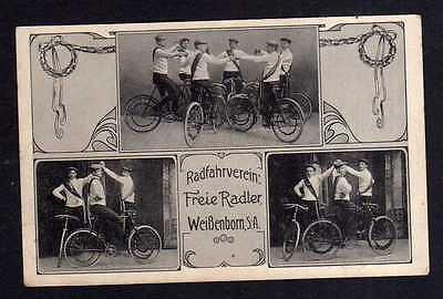 109600 AK Weißenborn S.-A. Droyßig Radfahrverein Freie Radler 1911