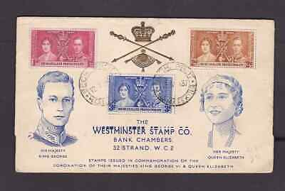 Bechuanaland Protectorate 1937 FDC 1st day cover to England KGVI Coronation  #2