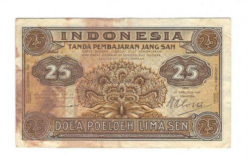 Indonesia - 1947, 10 & 25 SEN