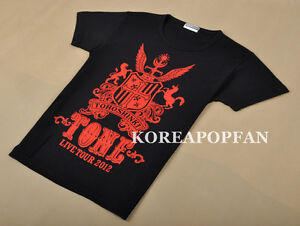 TVXQ DBSK Tohoshinki 2012 CONCERT BLACK T-SHIRT NEW FREE SHIPPING