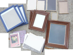 9 picture frames, and other albums, other frames, etc - all $10