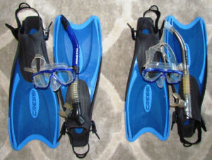 Two Snorkeling Packages (Pre-Owned) - Masks, Fins, Snorkels