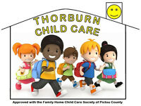 Child Care spaces available at Thorburn Child Care!