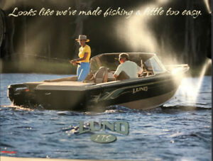 LUND TYEE FISHING TOO EASY POSTER UPST