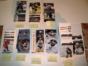 LOT 121 X UPPER DECK YOUNG GUNS 91/92,99/00,00/01,01/02,02-03,05