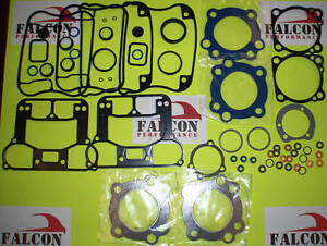 Harley XL Sportster 883 Upper/Top End Gasket Set 1991-06 w/Teflon+Carbon Head